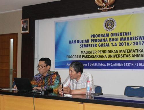 Kuliah Perdana Mahasiswa Magister Pendidikan Matematika