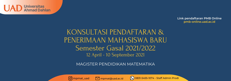 Konsultasi Pendaftaran PMB Sem. Gasal 2020/2021